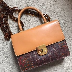 Escada vintage messenger handbag